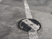 Painted Manhole Cover