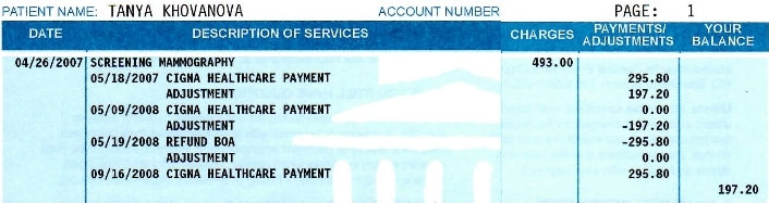My Medical Bill